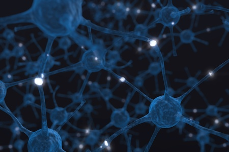 Neuronen de macht van de mening Stockfoto