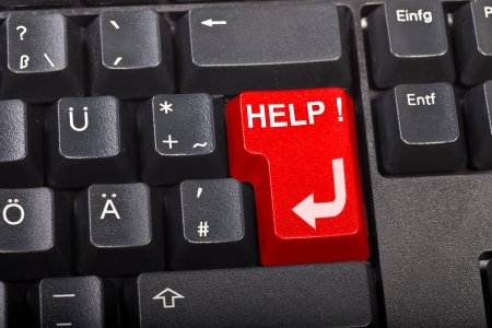 special keyboard - help Stock Photo - 10016635
