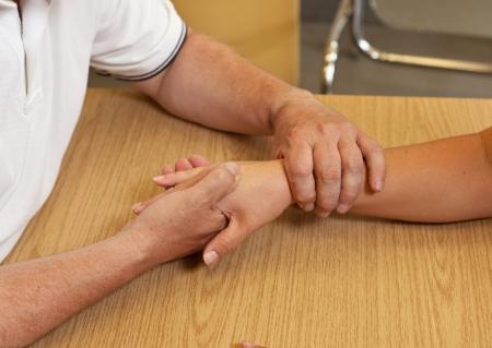 terapia ocupacional: Terapia ocupacional de mano Foto de archivo
