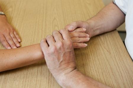 ergotherapie: Hand ergotherapie Stockfoto