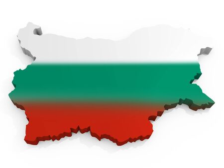 haskovo: Map and Flag Republic of Bulgaria