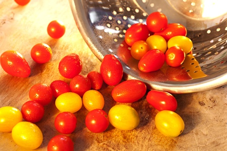 Lots of fresh washed tomatoes Stock Photo