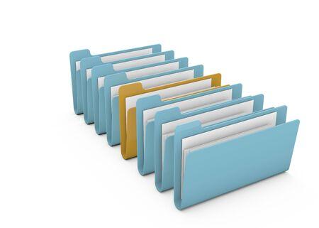 file Folders on white Background Stock Photo - 10940942