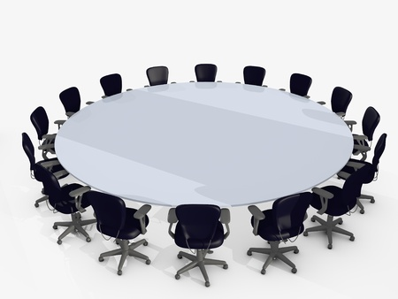 finacial: conference table surrounded by chairs