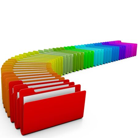 Colorful folders, over white background Stock Photo - 10940953