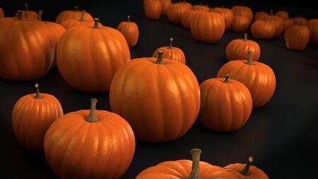 hollows: Punkins ready to do halloween Stock Photo
