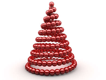 symbolized: Symbolized christmas tree made out of sphrers