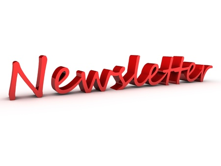 newsletter 3d over white background