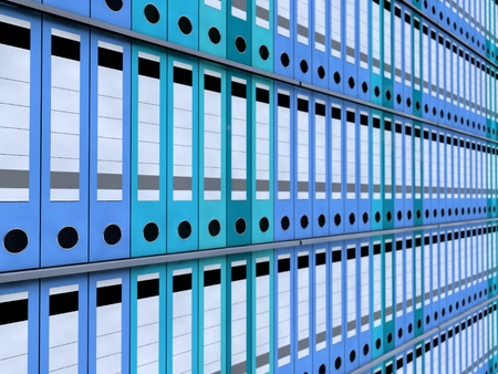 office folders in a rack