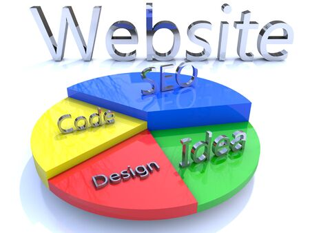 colored Website graph Concept Stock Photo - 11644647