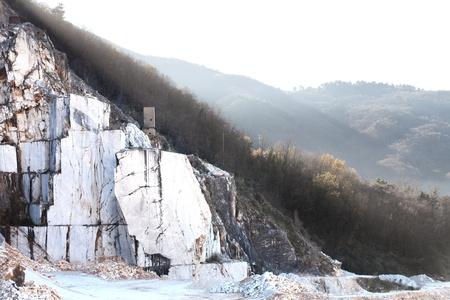 carrara: Carrara white marble mountains Stock Photo