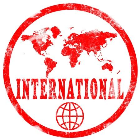 passeport: Timbre rouge sur fond blanc Banque d'images