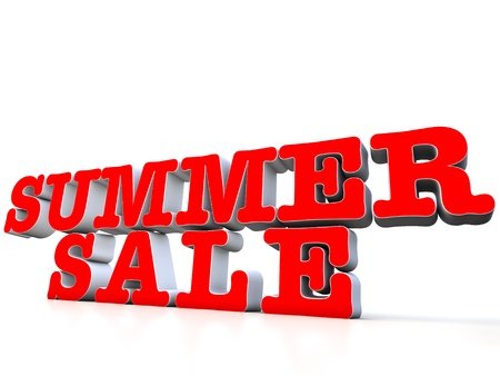 summer sale: Summer Sale 3d over white background Stock Photo