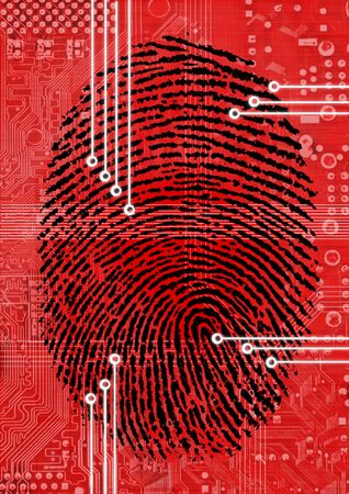 Fingerprint Scanning for secure authorization Stock Photo - 12609358