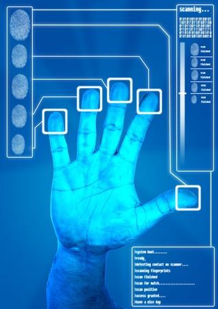 Fingerprint Scanning for secure authorization Stock Photo - 12609337