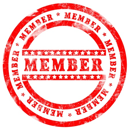 Red Member Stamp over white background Stock Photo