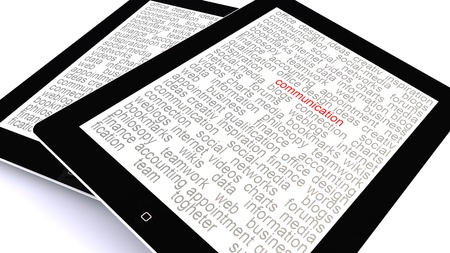 the word communication highlighted on a tablet pc photo