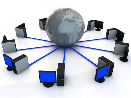 network connected to the world wide web Stock Photo - 13187050