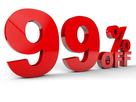 Sale Discount percentage red over white background Stock Photo - 13852869