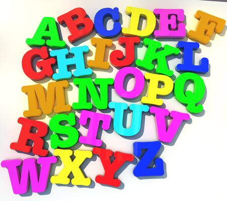 abcd: abcd alphabet over white background