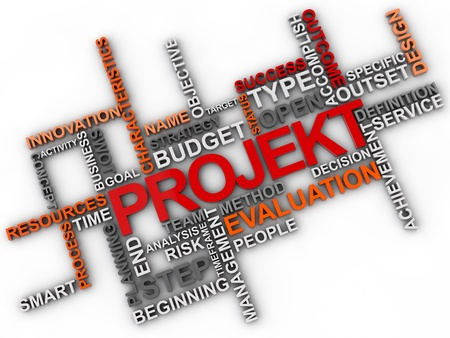 timeframe: Project Word cloud over white background Stock Photo
