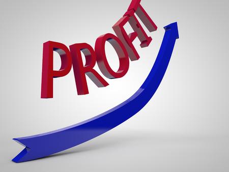 symbolized: Profit increase symbolized by an uprising arrow