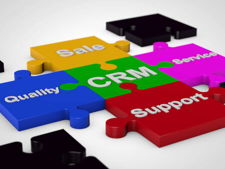 methodology: CRM Customer Relationship Management over white  Stock Photo