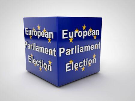 electing: European Parliament Election 2014 European Flag