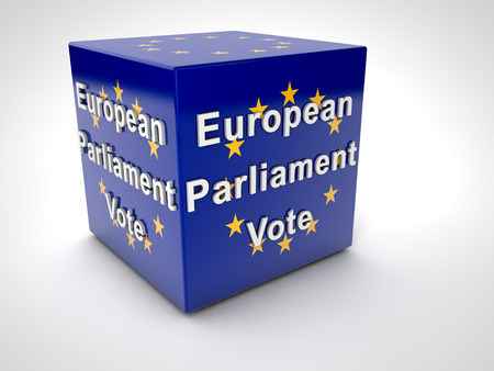 Europees Parlement Verkiezing 2014 Europese vlag Stockfoto