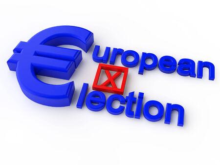 Verkiezing van het Europees Parlement over witte achtergrond