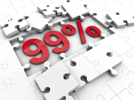 99: 99 Percent Under puzzle tiles
