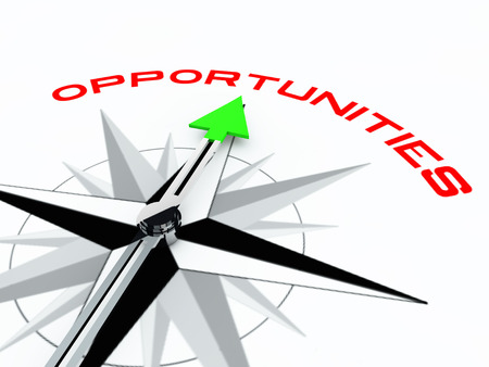 Opportunities Compass over white background
