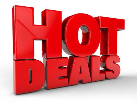 Hot Deals über weißem Hintergrund Standard-Bild - 39663049