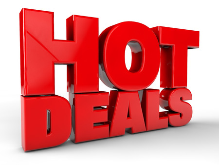 Hot Deals over white Background