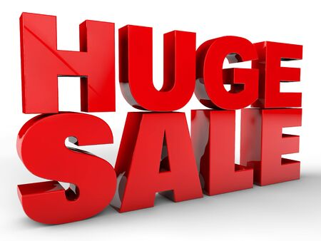 great deal: Huge sale over white background