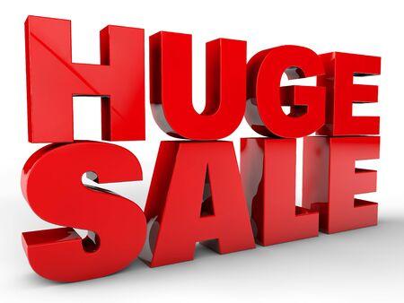 big sale: Huge sale over white background