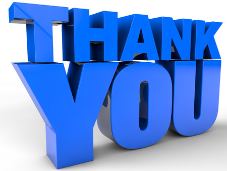 Thank You over white Background
