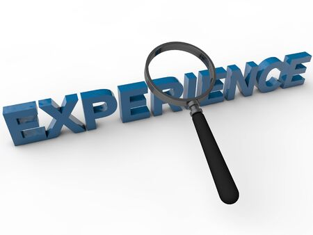 experiential: Experience - 3D Text over white Background