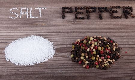 Salt and Pepper on wooden table