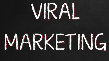 finacial: Viral Markting on a Black Chalkboard