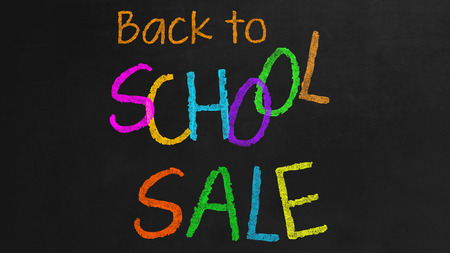 Back to School Sale - Concept on black Background