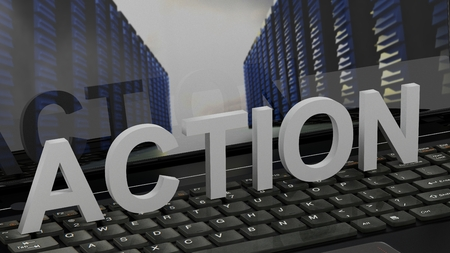 Action - Concept on Computer Keyboard