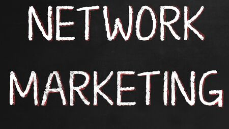 Network Marketing Concept sur tableau noir Banque d'images