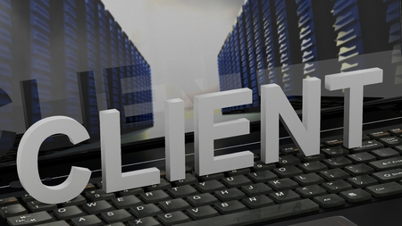 Client - concept on Computer Keyboard Stock Photo