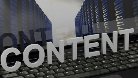 Content - Concept on Computer Keyboard
