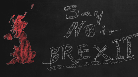 Say no to BREXIT on black chalkboard