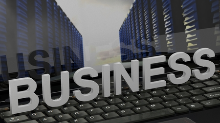 Business - concept on computer keyboard