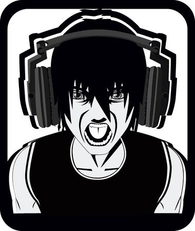 recording studio: Scream Stock Illustratie