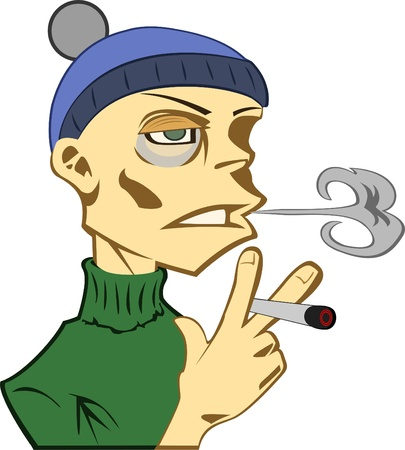 smoker Ilustrace