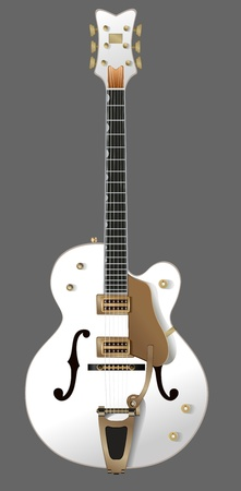 white guitar Stock Vector - 9819723
